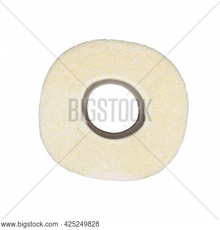 A Roll Of Toilet Paper With A Pattern On A White Background.photos Of Toilet Paper Rolls Are Isolate