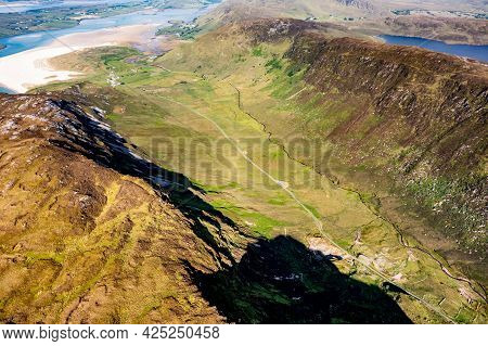 Grannys Pass Is Close To Glengesh Pass In Country Donegal, Ireland
