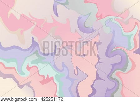 Vector Horizontal Background. Abstract Blots And Blur. Trending Template Or Pattern With Gradient Wa