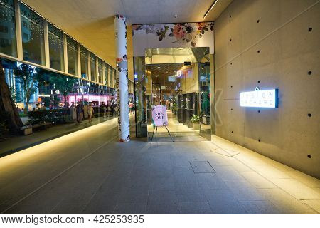 SINGAPORE - CIRCA JANUARY, 2020: entrance to Design Orchard store in Singapore.