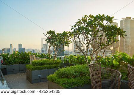 SINGAPORE - CIRCA JANUARY, 2020: view from Mercure Singapore Bugis in the morning.