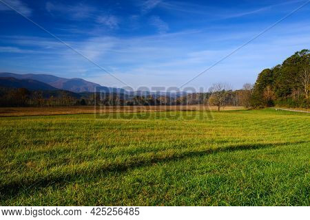 Early Morning At Cades Cove With A View To The West
