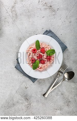 Fresh Raspberries Risotto A Delicate And Elegant Dish