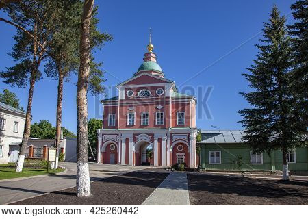 Church Of The Nativity Of John The Baptist In The Intercession Khotkovsky Monastery, Russia.