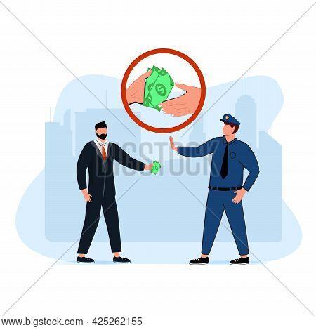 Public Life Abstract Concept Vector Illustration Set. Political Corruption, Financial Crimes, Public