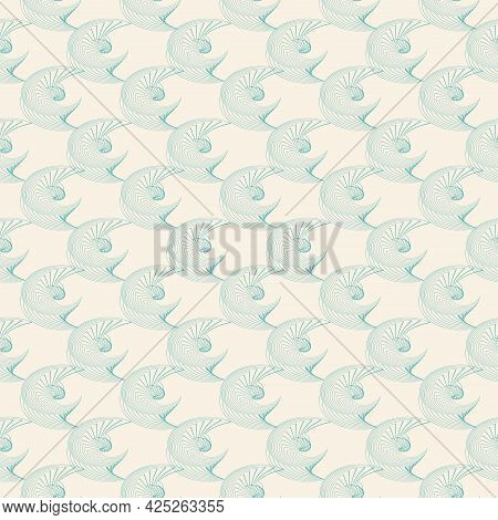 An Arc In An Arc, Abstraction. Seamless Pattern. For Backgrounds And Textures. Illustration.