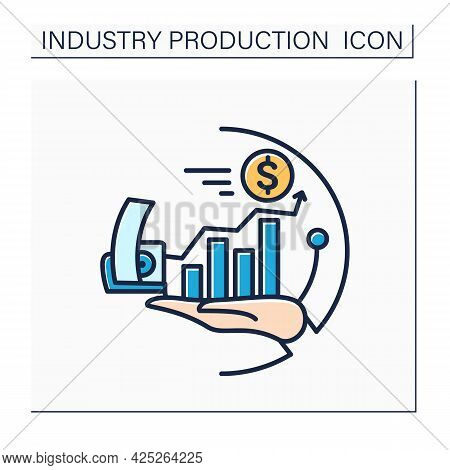 Financial Services Industry Color Icon. Payment, Accountancy, Credit Card Technologies Invention. Mo
