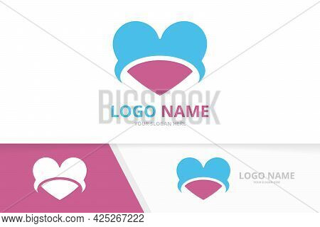 Vector Heart Logo. Kindness, Relationship And Charity Logotype Design Template.