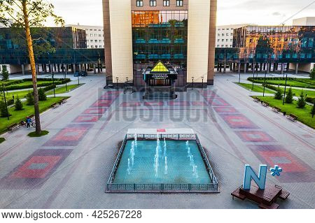 Novosibirsk Academic Town, Novosibirsk Region, Western Siberia Of Russia-june 26, 2021: A Bird's-eye