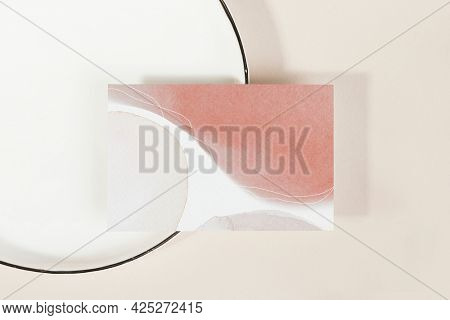 Business card on a plate mockup
