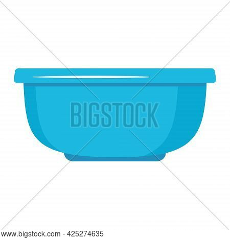 Insulated Container For Washing And Cleaning, Color Vector Illustration In The Flat Style.