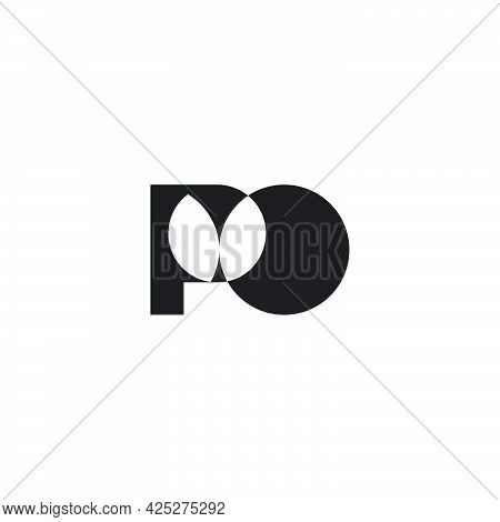 Letter Po Simple Abstract Linked Geometric Logo Vector
