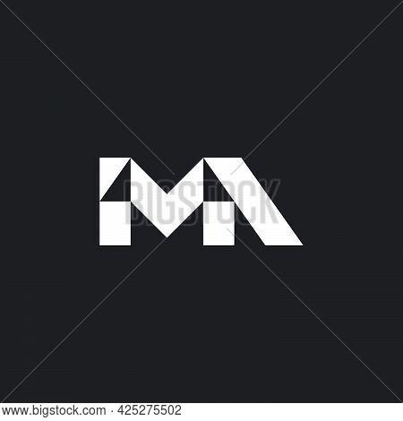 Letter Ma Simple Geometric Triangle Logo Vector