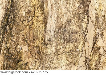 Granite Stone Texture. Stone Texture On Brown Marble Tone Texture And Background Seamless