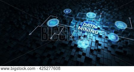 Data Mining Concept. Business, Modern Technology, Internet And Networking Concept.3d Illustration