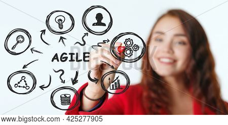 Business, Technology, Internet And Network Concept. Agile Software Development.