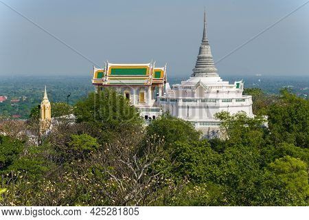 Ancient Buddhist Temple Wat Phra Kaew And Phra Sutthasela Chedi Stupa On The Royal Hill (phra Nakhon