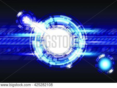 Glowing Hud hi-tech background. Virtual reality technology screen. Futuristic interface
