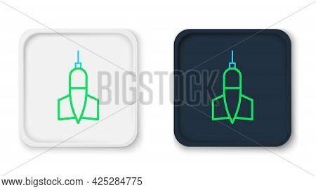 Line Dart Arrow Icon Isolated On White Background. Colorful Outline Concept. Vector