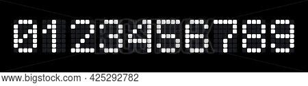 Digital Numbers Set For Scoreboards, Electronic Watches, Calculators Or Electronic Scales. Vector Il