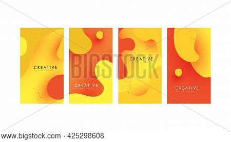 Trendy Abstract Fluid Trendy Templates For Social Media Posts, Mobile Apps, Banners