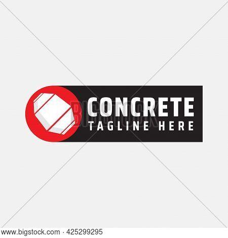 Illustration Vector Graphic Of Concrete Mixer Logo Design Template. Suitable For Construction Compan