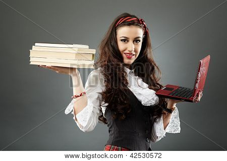 Closeup Of Young Schoolgirl