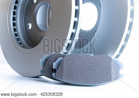 Accessories For Cars. New Metal Car Part. Auto Motor Mechanic Spare Or Automotive Piece Isolated On