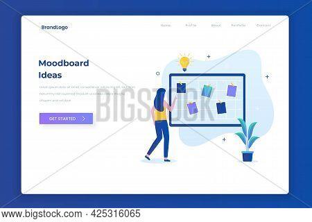 Mood Board Ideas Illustration Landing Page Concept