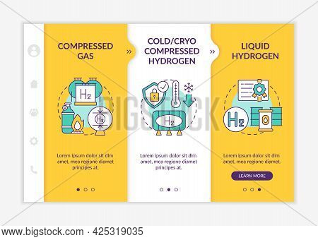 H2 Storage Approaches Onboarding Vector Template. Responsive Mobile Website With Icons. Web Page Wal
