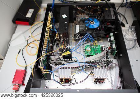 Single Photon Decoder Encoder Fiber Optic Cryptography Plate.