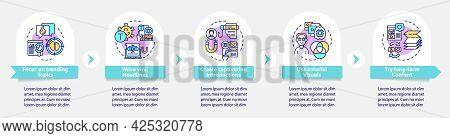 Shareable Content Creation Vector Infographic Template. Captivation Presentation Outline Design Elem
