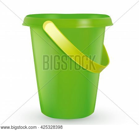 Sandbox Toys. Baby Bucket, Rake, Scapula. Set Of Buckets And Dustpan. For Playing In The Sandbox For