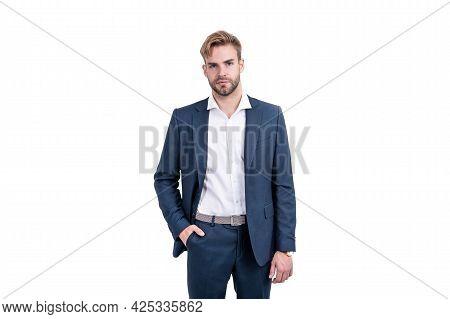Ceo In Formalwear. Business Success. Successful Man In Businesslike Suit.