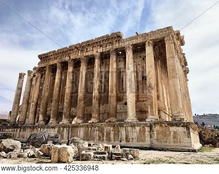Roman Temple Of Bacchus At Baalbek In Lebanon, The Middle East/