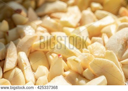Sliced apples As Background Or Texture.sliced apples As Background Or Texture