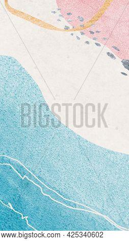Pastel contemporary Memphis textured mobile phone wallpaper illustration