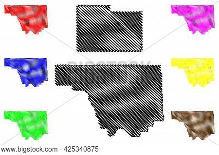 Park And Laramie County, State Of Wyoming (u.s. County, United States Of America, Us) Map Vector Ill