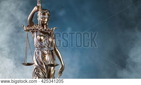 Statue of Justice - lady justice, Justitia the Roman goddess of Justice