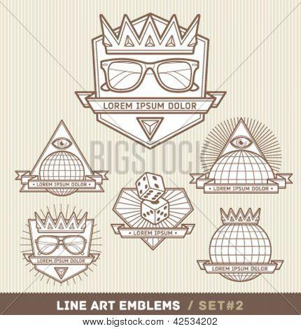 Line art labels