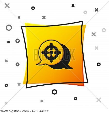 Black Target Financial Goal Concept Icon Isolated On White Background. Symbolic Goals Achievement, S