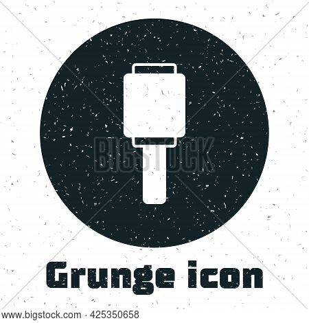 Grunge Rkg 3 Anti-tank Hand Grenade Icon Isolated On White Background. Monochrome Vintage Drawing. V