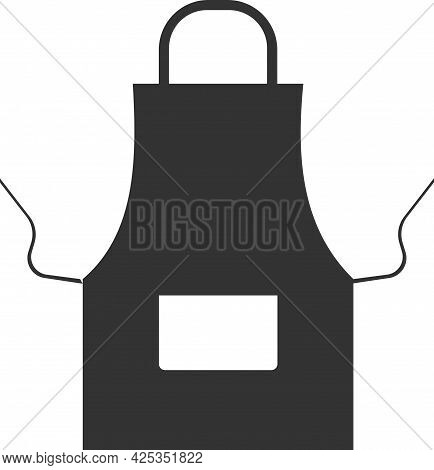Vector Apron Icon To Protect Clothing When Cooking.