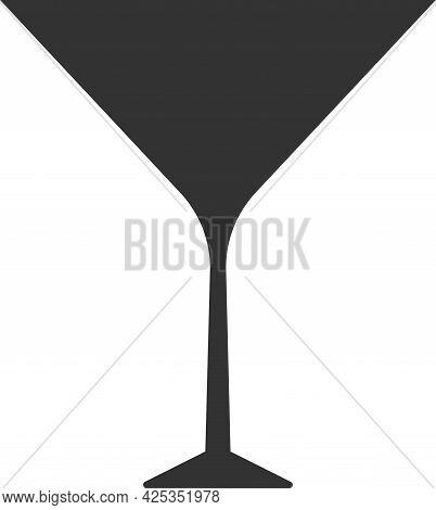 Vector Icon Of A Martini Or Wine Glass.