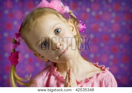 Little Girl Making Faces