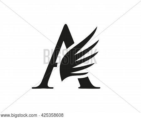 A Letter Logo With Wing. Wing Logo With A Letter Concept