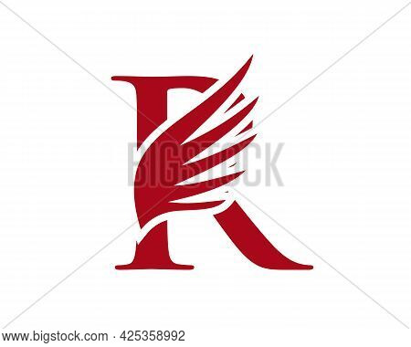 Wing Logo With R Letter Concept. R Letter Logo With Wing