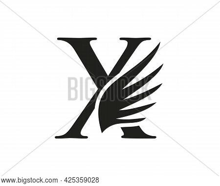 Wing Logo With X Letter Concept. X Letter Logo With Wing