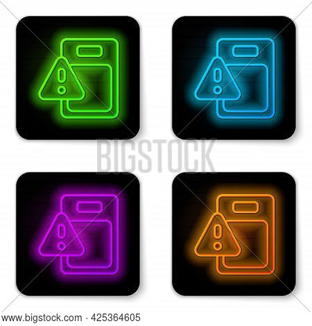 Glowing Neon Line Global Economic Crisis Icon Isolated On White Background. World Finance Crisis. Bl