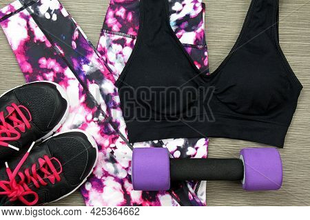 Woman Lingerie. Various Colored Bra And Panties. Underwear.